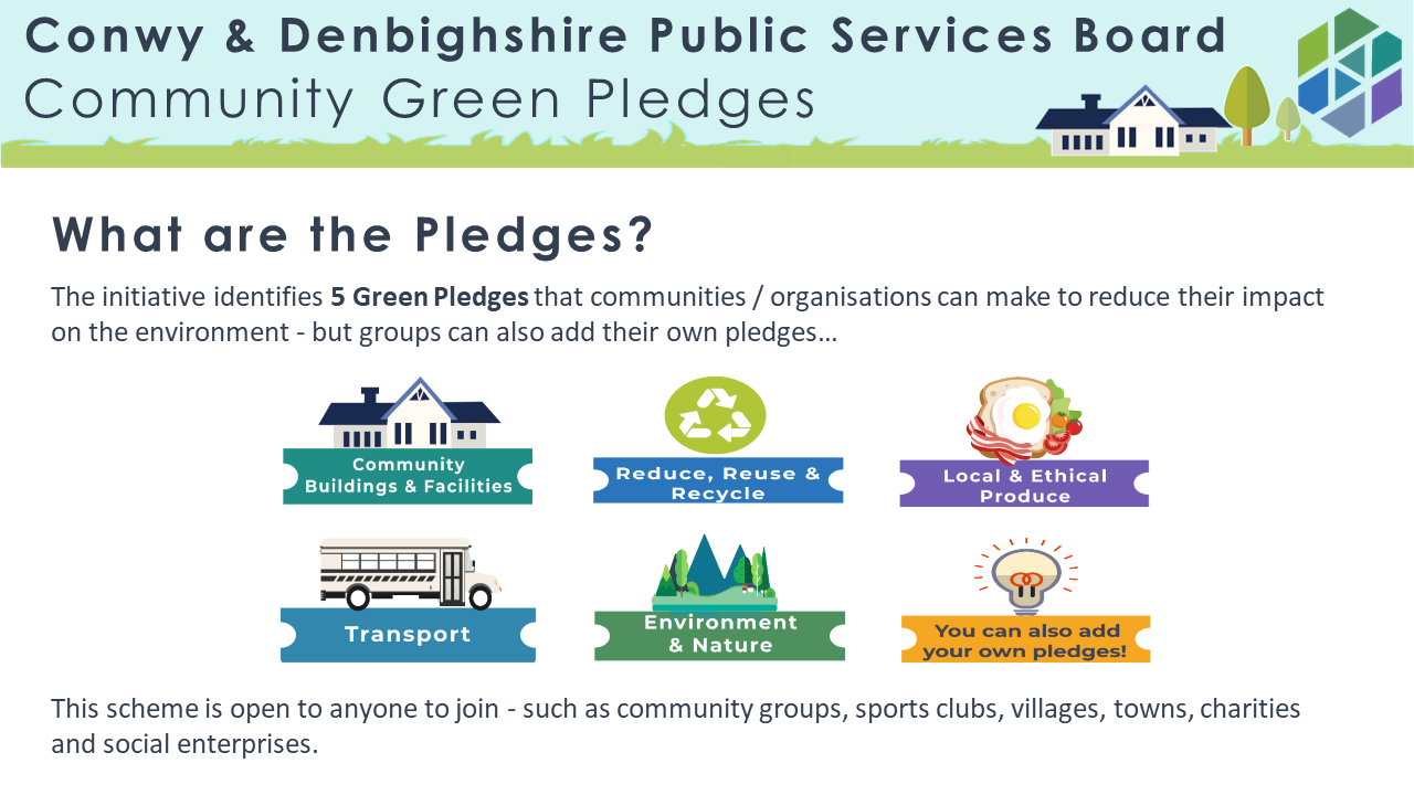 community green pledges